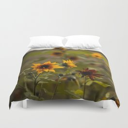 Sunflowers on a Cold Day Duvet Cover