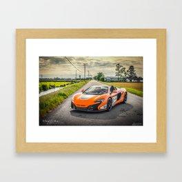 McLaren Vancouver - 650S GT3 v2.0 Framed Art Print