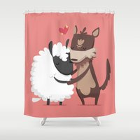 lamb Shower Curtains featuring Lamb by Alfonso Cervantes