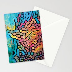 Abstract Watercolor Stationery Cards
