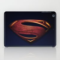 man of steel iPad Cases featuring Man of Steel by Fortale