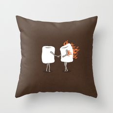 Mallow on Fire Throw Pillow