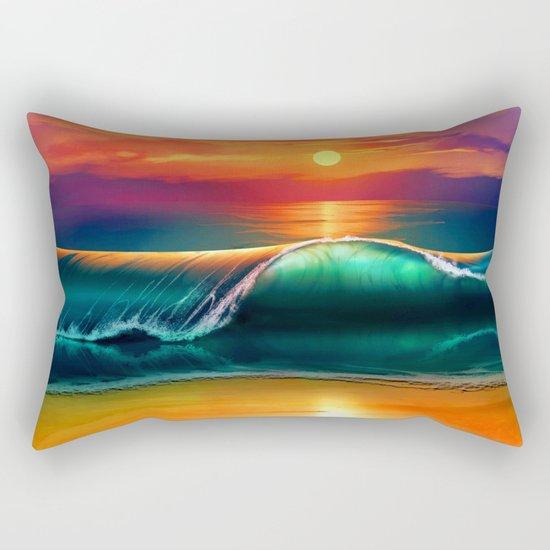Beauty wave I Rectangular Pillow