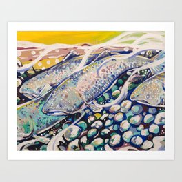 Pacific Northwest Salmon Art Print