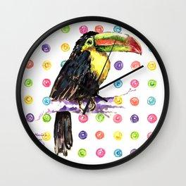 Toucan Happiness Wall Clock