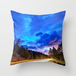 Colorado Highway 7 To Heaven Throw Pillow