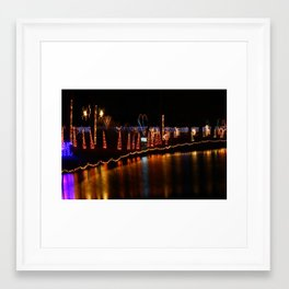 Christmas at the duck pond Framed Art Print