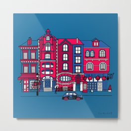 London Facade Metal Print
