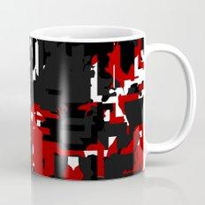 Black Red and White Glitch Mug