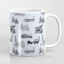 Antique Steam Engines // Steel Grey Coffee Mug