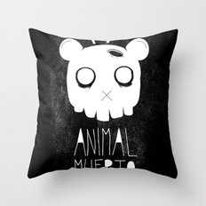 Animal Muerto Throw Pillow