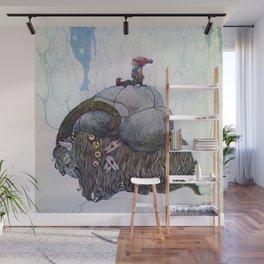 """The Julbock"" Christmas Goat by John Bauer Wall Mural"