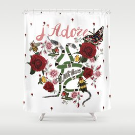 J'Adore With Love Shower Curtain