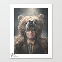 dwight schrute Canvas Prints featuring Dwight Schrute by Sam Spratt