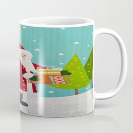 Santa and Presents Coffee Mug