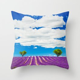 Provence lavender field in Valensole, France. Throw Pillow