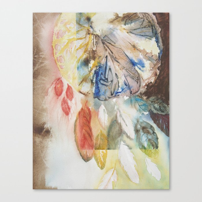 Dream Catcher Abstract Canvas Print By Heatherbrockmanlee