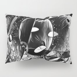 Monochrome Abstract Thoughts  Pillow Sham