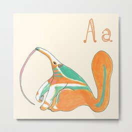 A is for Anteater Metal Print