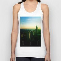 nyc Tank Tops featuring NYC by Tristan Tait