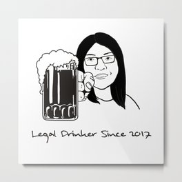 Legal Drinker Since 2017 Metal Print