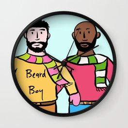 Beard Boy: James & Mike Wall Clock