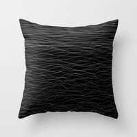 wave Throw Pillows featuring Wave by Georgiana Paraschiv