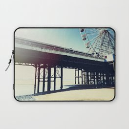 Ferris wheel and pier with light leak Laptop Sleeve