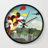 chile Wall Clocks featuring Centro de Chile by i am nito