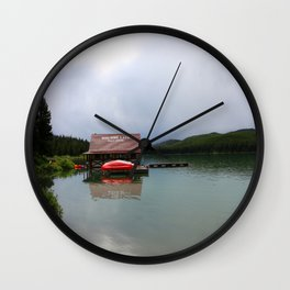 Maligne Lake Boathouse Wall Clock