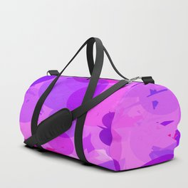 geometric circle and triangle pattern abstract in pink purple Duffle Bag