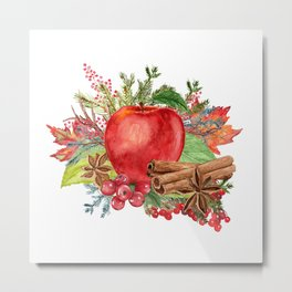 Apple Bouquet Metal Print