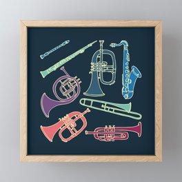Wind instruments Framed Mini Art Print