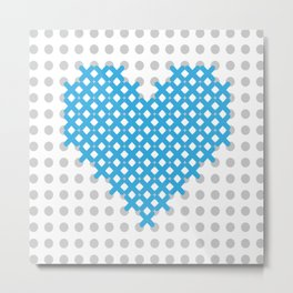cross embroidered heart Metal Print