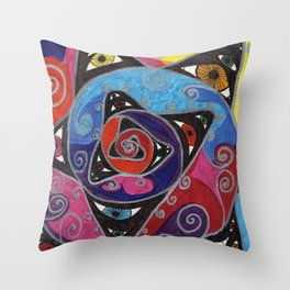 Eye Spiral Throw Pillow