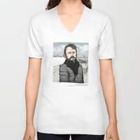 fargo V-neck T-shirts featuring Lorne Malvo, Billy Bob Thornton at Fargo series by suPmön