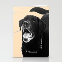 labrador Stationery Cards featuring Labrador Happy by Jennifer Warmuth Art And Design