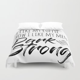 Coffee and Men Duvet Cover