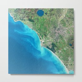 Rome Italy - High resolution satellite view of Earth from Space - Color Metal Print