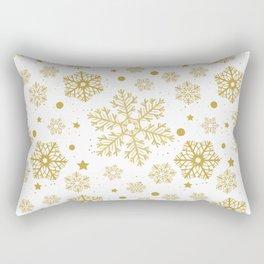 Golden snowflakes Rectangular Pillow