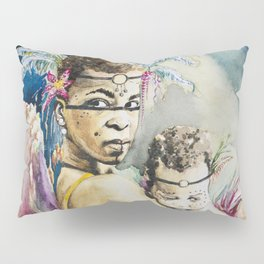Mother Mary. Tribal Edition. Pillow Sham