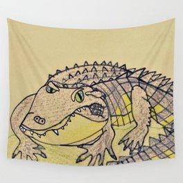 Grumpy Gator Wall Tapestry