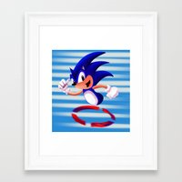 sonic youth Framed Art Prints featuring Sonic by DROIDMONKEY