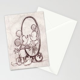 Mouse in the Mirror Stationery Cards