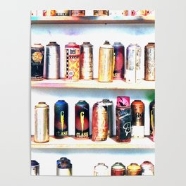 Spray Cans - United Kingdom Poster