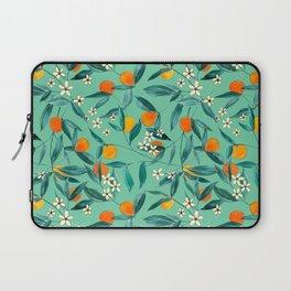 Orange Summer in Green Laptop Sleeve