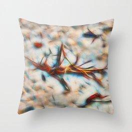 Abstract Flotsam on Queensland beach Throw Pillow