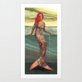 Rihanna Mermaid Art Print