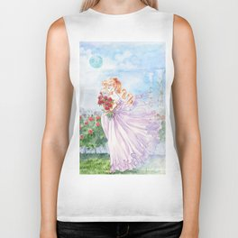 Princess Serenity with Roses Biker Tank