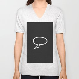 Speech Bubble Unisex V-Neck